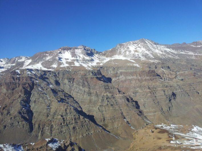 Cordilheira dos andes, valle nevado, estação de esqui no Chile