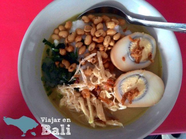 Comer en Bali Bubur Ayam