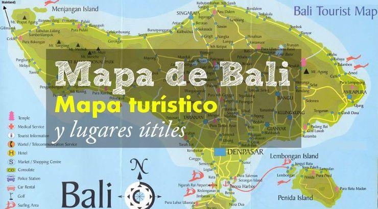 Bali Mapa Turístico