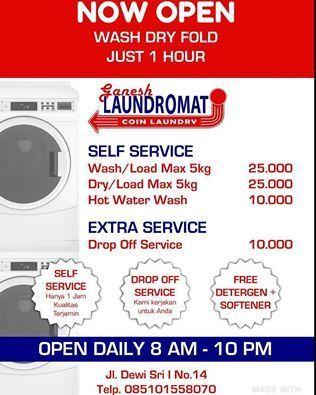lavar tu ropa en Bali - Precios
