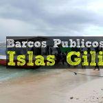 Barcos públicos entre las islas Gili Trawangan, Gili Meno y Gili Air
