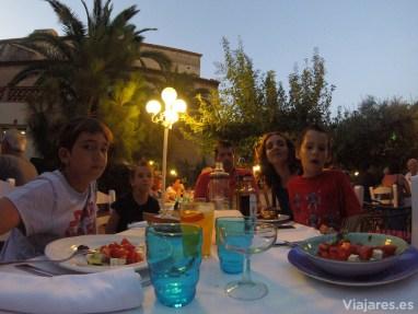 Cena familiar en Hotel Antiga, Calafell