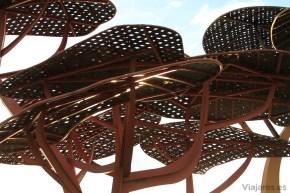 Estructura metálica obra de Mariscal