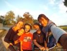 Paseo familiar en bicicleta por Villenouvelle, Francia