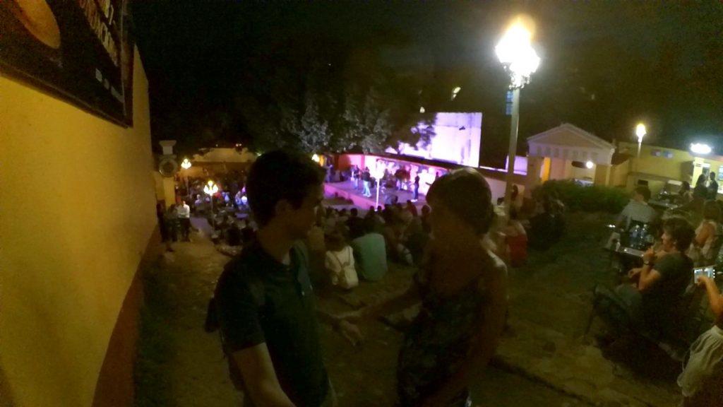 Bailando salsa en la Casa de la Música, Trinidad