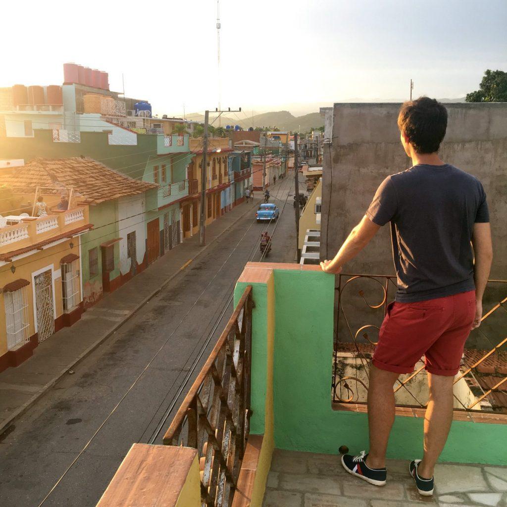 En la azotea de la casa de OsmaryAlberto, Trinidad