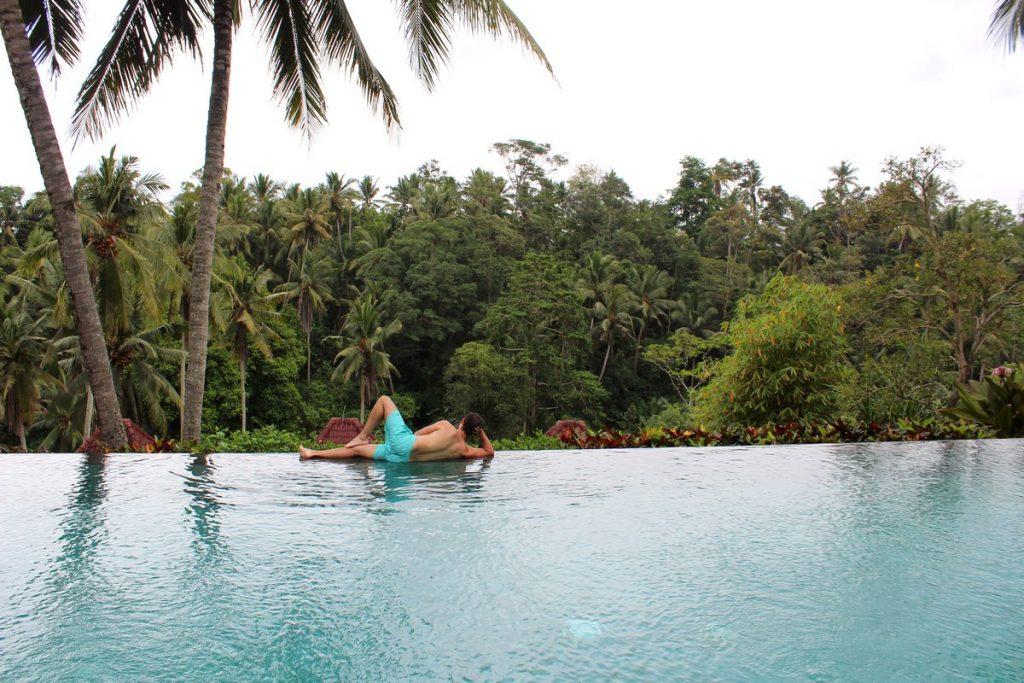 La otra piscina infinita del Petiwi Bisma 1, Ubud
