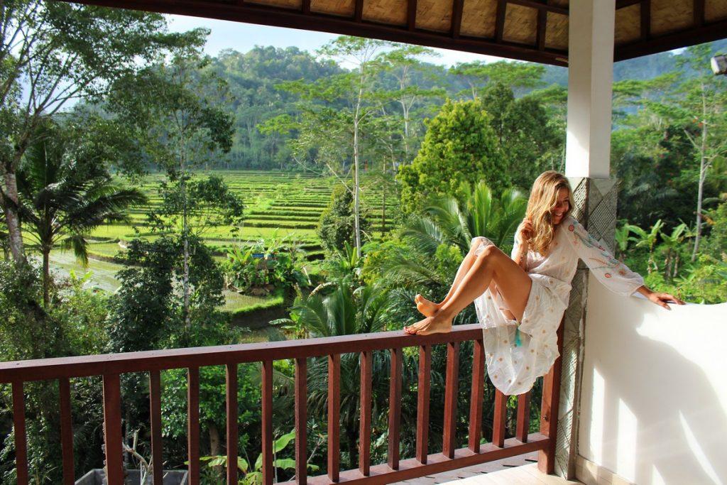 Vistas desde nuestra habitación en el este de Bali (Sweet Escape)