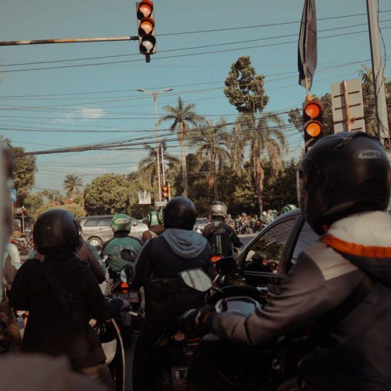El tráfico caótico de Yakarta