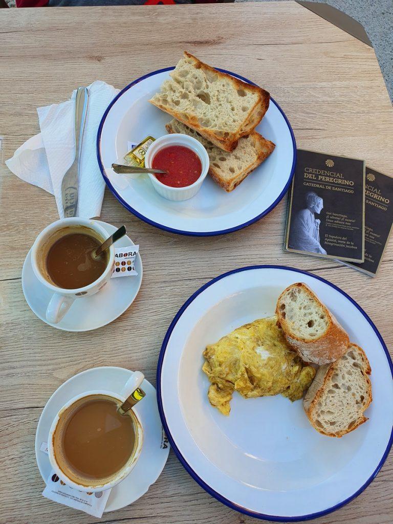 Desayunando en el Camino de Santiago