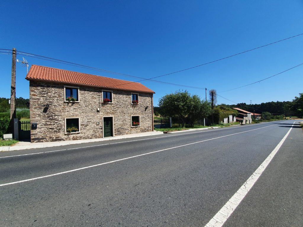 Carretera de camino a O Pedrouzo