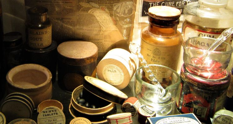 Medicamentos usados en The Old Operating Theatre