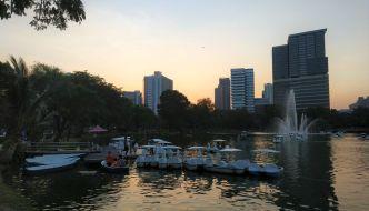 Atardecer Lumphini Park