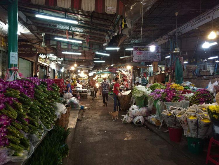 Mercado de flores Bangkok