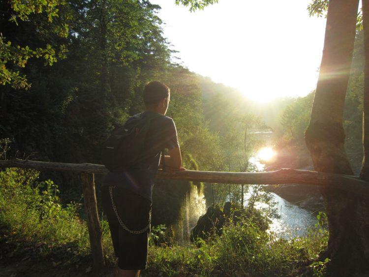 Puesta de sol en Rastoke