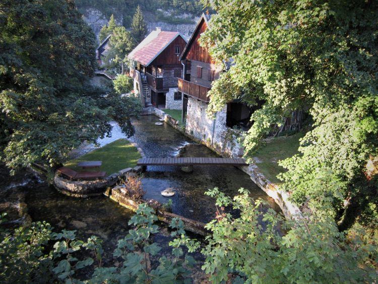 El pueblo de Slunj Rastoke