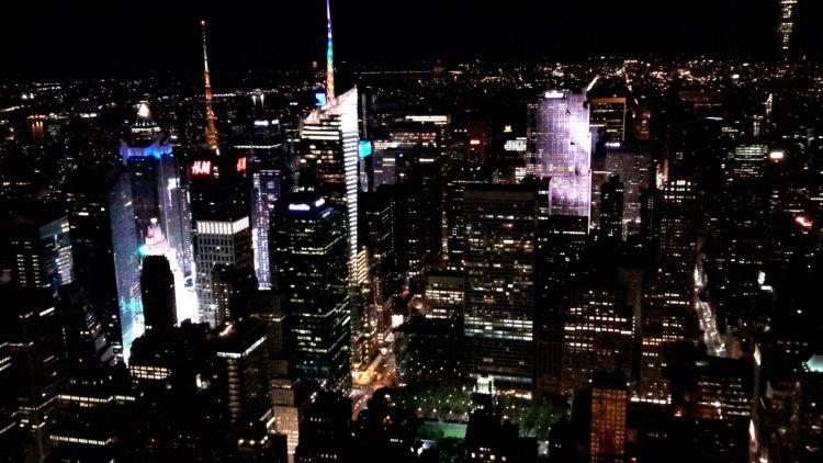 Vistas nocturnas de NY