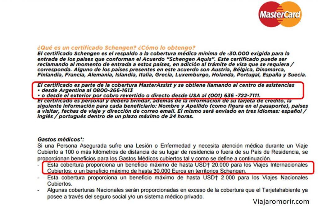 Asistencia Al Viajero Mastercard Gold Cubre Europa Visa Gold No
