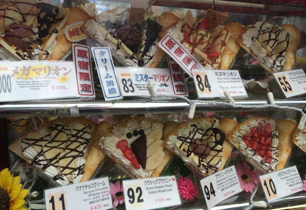 Cuanto cuesta comer en Japon Crepes