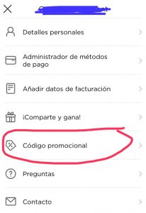 Glovo Argentina codigo promocional