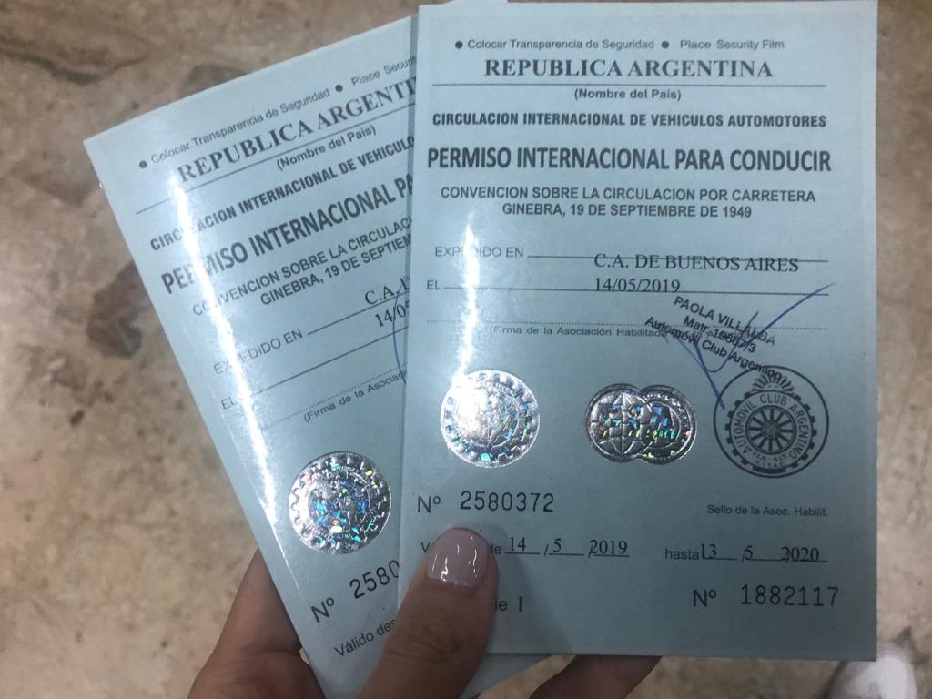 Permiso internacional de conducir Argentina