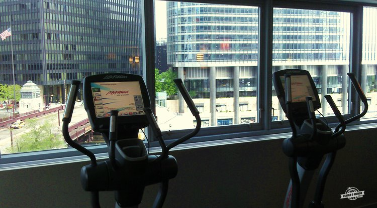 Fitness center do Wyndham Grand Chicago Riverfront