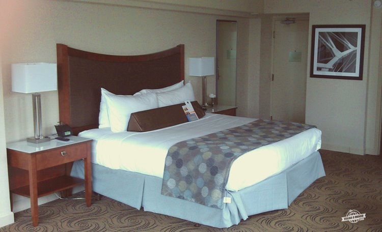 Quarto do Wyndham Grand Riverfront