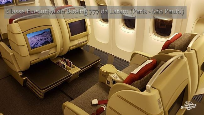 Classe Executiva do Boeing 777 da Latam