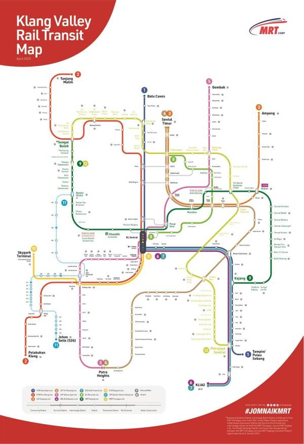 mapa transporte en KL