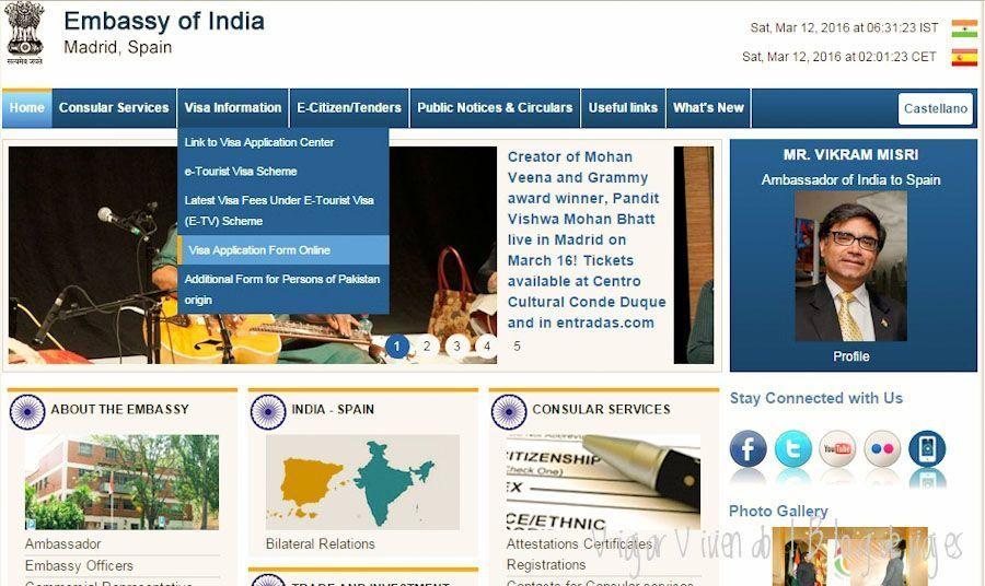 e-tourist visa India embajada España