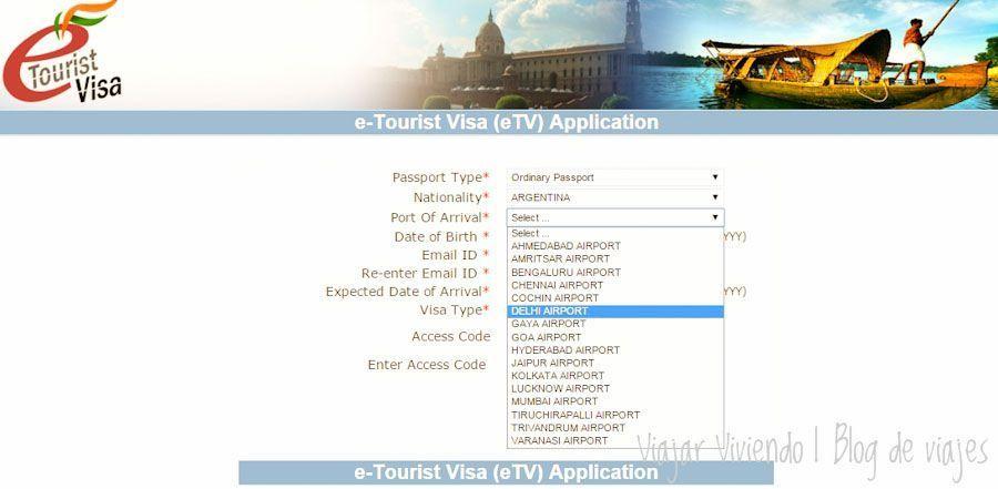 formulario e-tourist visa india como completarlo facil