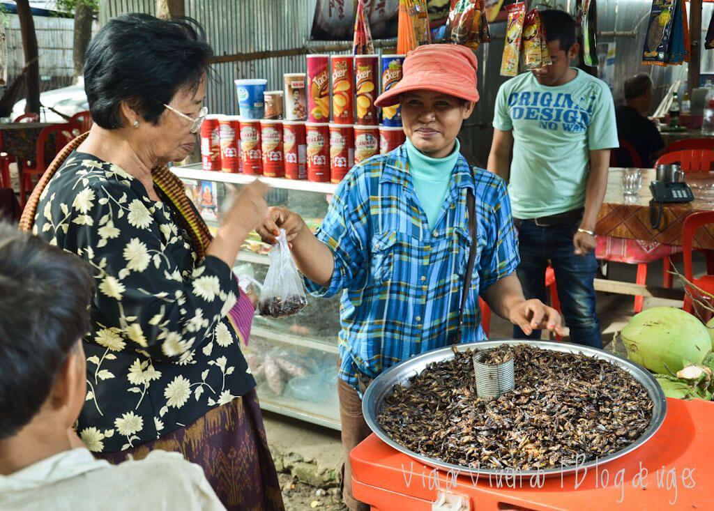 viajar a Camboya comida
