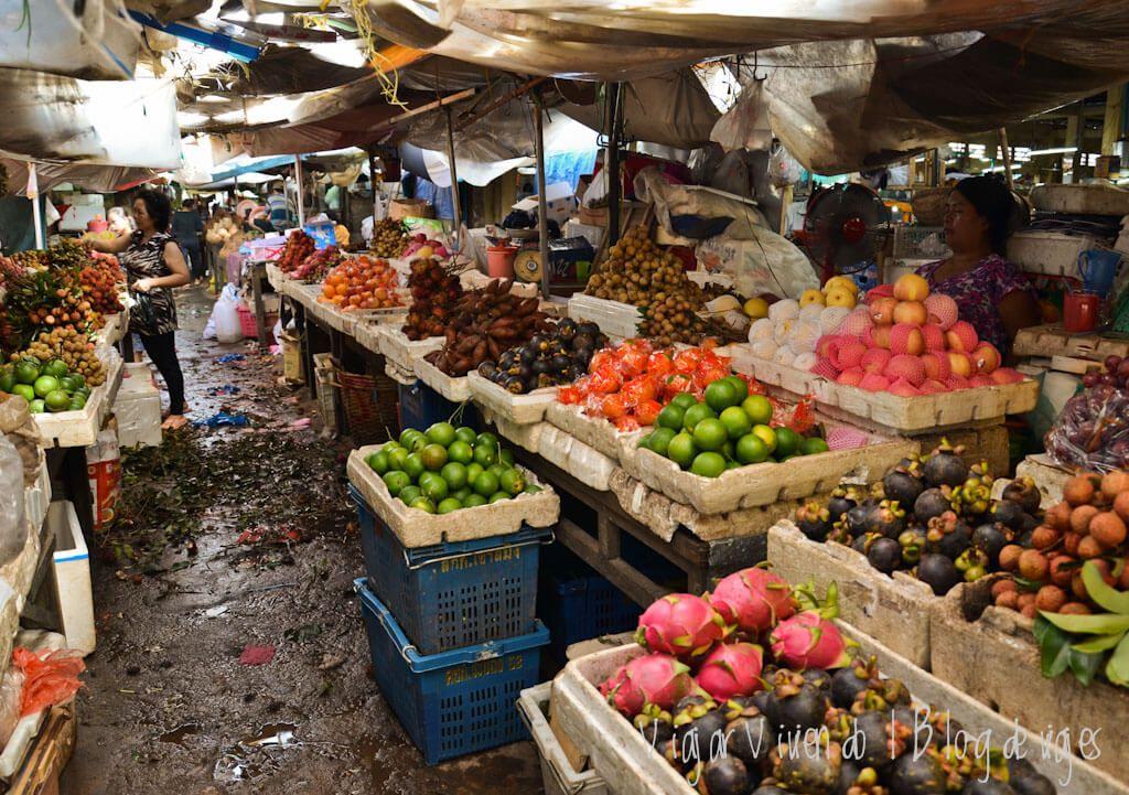 mercado - viajar a Kampot, Camboya
