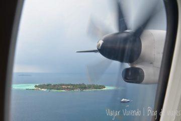islas maldivas desde el avion
