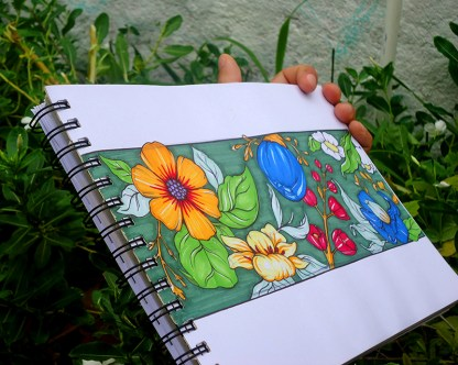 Dibujo flores