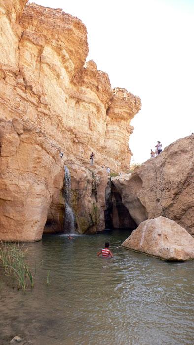 Cascada en Tamerza, Túnez