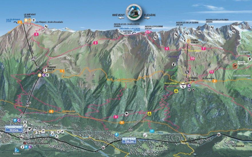 Plano Teleféricos Chamonix