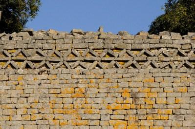 Detalle del muro de Gran Zimbabue