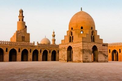 Patio de la mezquita de Ibn Tulun
