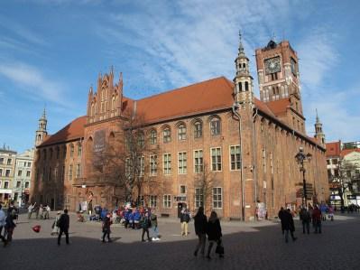 Antiguo ayuntamiento de Toruń, con la torre del reloj