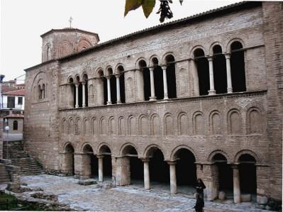 Nártex de la iglesia de Santa Sofía en Ohrid