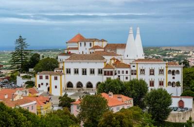 Vista del Palacio Nacional da Sintra