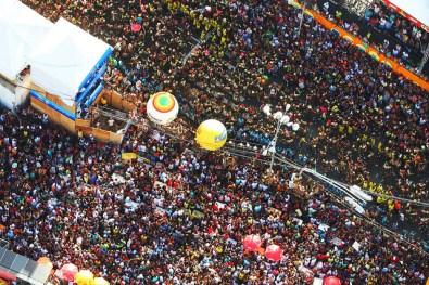 Vista aérea del Carnaval de Bahía