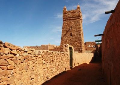 Minarete de la mezquita del Viernes de Chinguetti