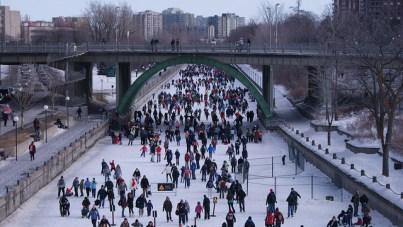Canal Rideau en Ottawa durante el festival Winterlude