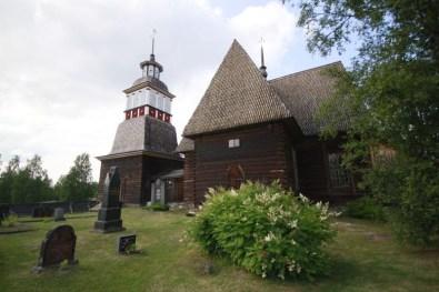 Exterior de la iglesia vieja de Petäjävesi