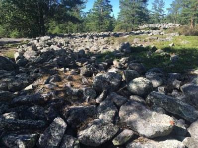 Piedras de un cairn de Sammallahdenmäki