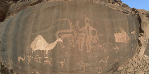Arte rupestre de la región de Hail