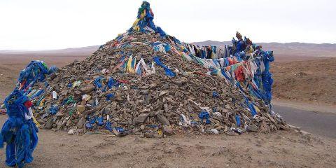 Gran montaña de Burkhan Khaldun y paisaje sacro circundante