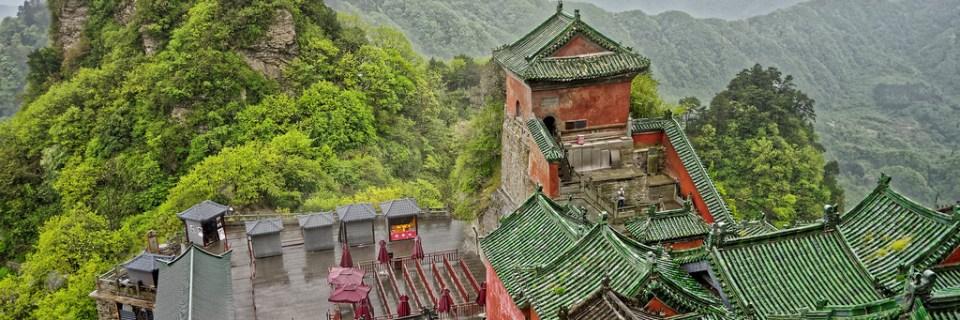 Conjunto de edificios antiguos de las montañas de Wudang
